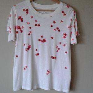 J.Crew sequin floral t shirt.